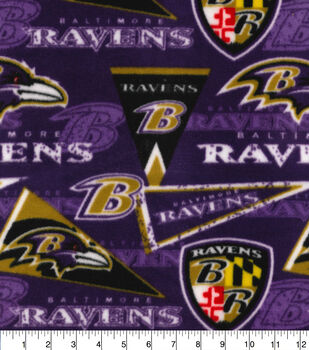 Baltimore Ravens Fleece Fabric-Retro