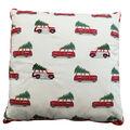 Handmade Holiday Christmas Pillow-Wagon Cars