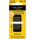 John James Gold\u0027n Glide Big Eye Quilting Needles-2 Sizes