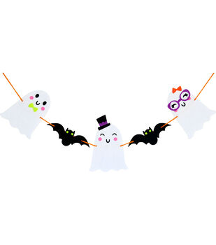 Little Makers Halloween Garland-Ghost And Bat