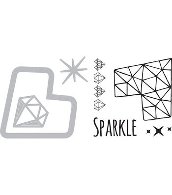 Sizzix Framelits Jen Long Die & Stamp Set-Sparkle Heart