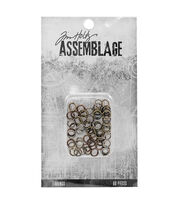 Tim Holtz Assemblage Pack of 60 Jump Rings Findings-Assorted, , hi-res