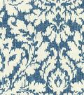 Waverly Upholstery Fabric 54\u0027\u0027-Midnight Dashing Damask