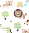 Snuggle Flannel Fabric 42\u0027\u0027-Baby Zoo Animals
