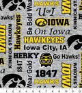 Iowa Hawkeyes Fleece Fabric-Heather Verbiage