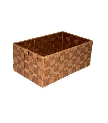 Organizing Essentials Paper Rope Storage Basket-Brown