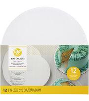 Wilton 8'' Cake Circles-12/Pk, , hi-res