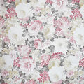 Premium Cotton Fabric-Gray & Pearl Packed Garden