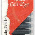 Manuscript Fountain Pen Ink Calligraphy Cartridges 12/Pkg-Black