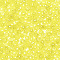 Glass Seed Beads, Transparent Rainbow Finish, Yellow