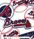 Atlanta Braves Fleece Fabric -Vintage