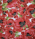 Premium Cotton Fabric -Packed Poppies