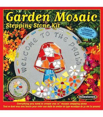 Mosaic Stepping Stone Kit-Garden