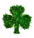 St. Patrick\u0027s Day Decor 16.75\u0027\u0027x17\u0027\u0027 Shamrock Shaped Tinsel Wreath