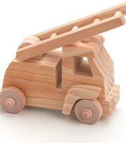 FIRE TRUCK -WOOD TOY, , hi-res