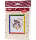 RIOLIS Create it yourself 5\u0027\u0027x6.25\u0027\u0027 Counted Cross Stitch Kit-First Love