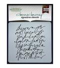Donna Downey Signature 8.5\u0027\u0027x8.5\u0027\u0027 Stencil-Scribble Script