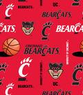 University of Cincinnati Bearcats Fleece Fabric -Allover