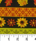 Harvest Cotton Fabric -Black Stripes