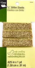 Glitter Elastic Gold- 1 Yard