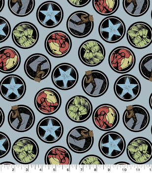 Marvel Flannel Fabric-Avengers Icons