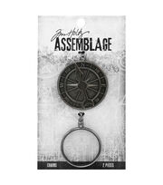 Tim Holtz Assemblage Pack of 2 Compass & Monocle Charms, , hi-res