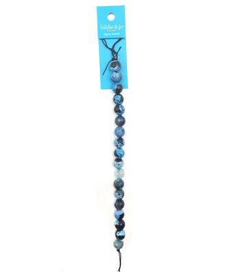 hildie & jo Round Agate Stone Strung Beads-Blue