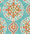 Home Decor 8\u0022x8\u0022 Fabric Swatch-Dena Mirage Medallion Capri