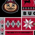 Ohio State Buckeys Fleece Fabric-Sweater