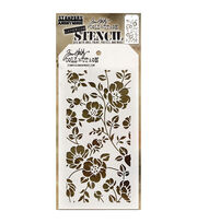 Stampers Anonymous Tim Holtz 4.13''x8.5'' Layering Stencil-Floral, , hi-res