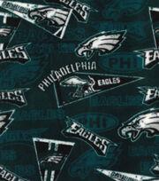 Philadelphia Eagles Fleece Fabric -Retro, , hi-res