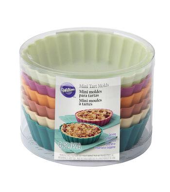 Wilton 6 Pack Silicone Mini Pie Molds
