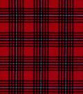 Snuggle Flannel Fabric 42\u0022-Hadley Red & Black Plaid