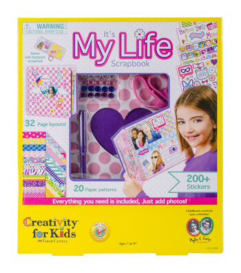 Creativity for Kids Kit-It's My Life Scrapbook