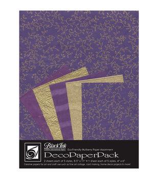 Black Ink Napa Purple Deco Paper Pack