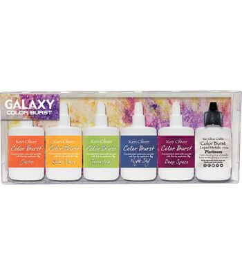 Ken Oliver Color Burst 5 pk Watercolor Powders with Liquid Metal-Galaxy