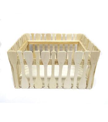 """Camp Ann Crafts 8.7"""" Wooden Oar Crate"""