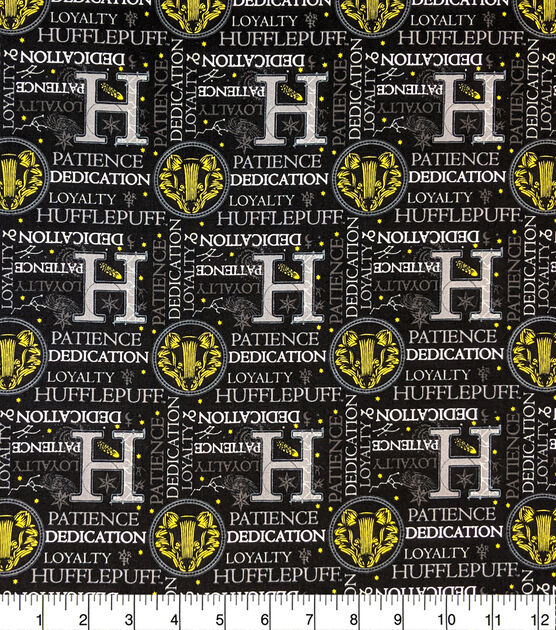 Harry Potter Cotton Fabric Celestial Hufflepuff, , hi-res, image 1