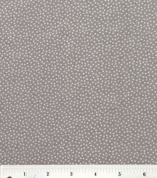 Keepsake Calico Cotton Fabric -Gray Metallic Dot