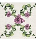 Fairway Stamped Quilt Blocks Rose Vine