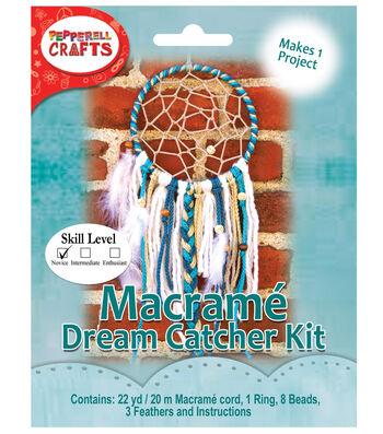 Pepperell Crafts Mini Macramé Dream Catcher Kit