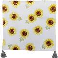 Simply Autumn 14\u0027\u0027x72\u0027\u0027 Table Runner-Yellow Sunflowers on White