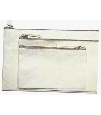 Ziper Bag Set of 3-Natural