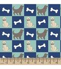 Snuggle Flannel Fabric -Dog And Bone Multi