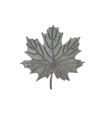Simply Autumn Galvanized Metal Maple Leaf