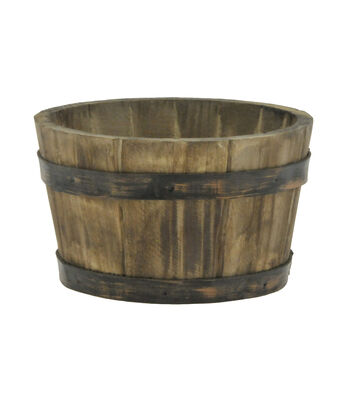 "6"" Wood Container"