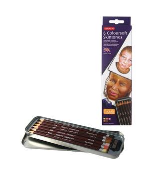 Derwent Coloursoft Pencils 6pk-Skin Tones