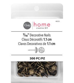 Dritz Home 300pk Decorative Nails-Antique Brass