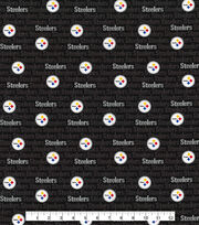 Pittsburgh Steelers Cotton Fabric -Mini Print, , hi-res