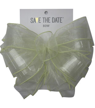 Save the Date 2.5'' Sheer Bow-Ivory